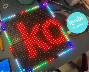 How to make 2 line RGB P10 display from WF2 controller