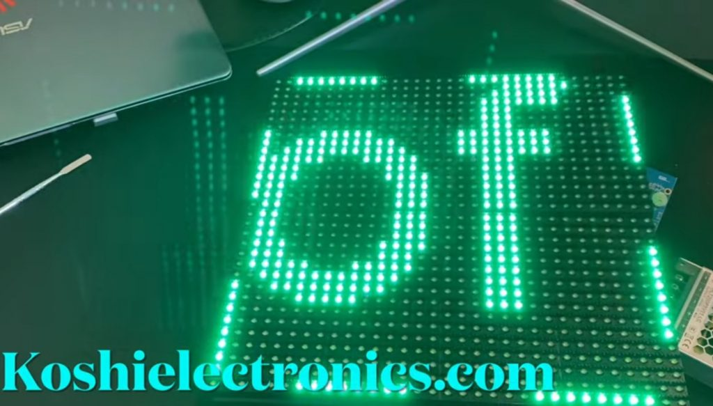 double line P10 display with W0 Wi-Fi controller