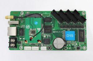 P6 full-color display using D15 huidu card